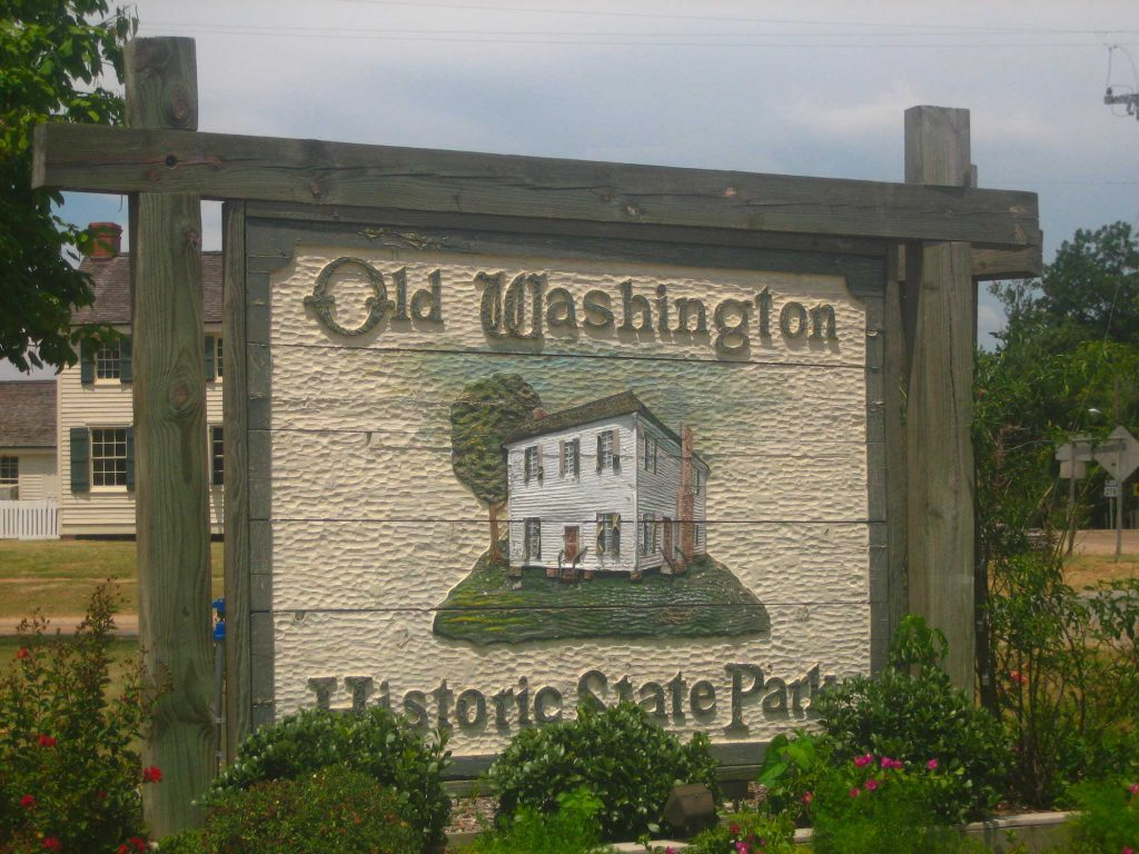 Old Washington Historic State Park Sign